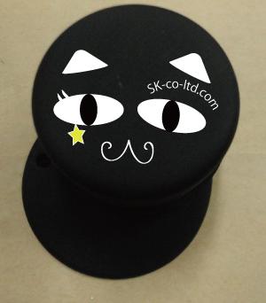 黒猫イメージゴムに印刷可能です